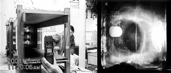 微粒子の挙動実験
